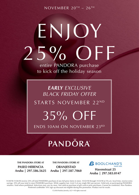 pandora black friday 2019