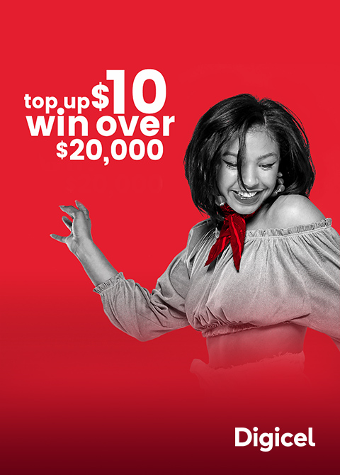 Top up with $10 win over $20000 - Digicel Scratch Match Win